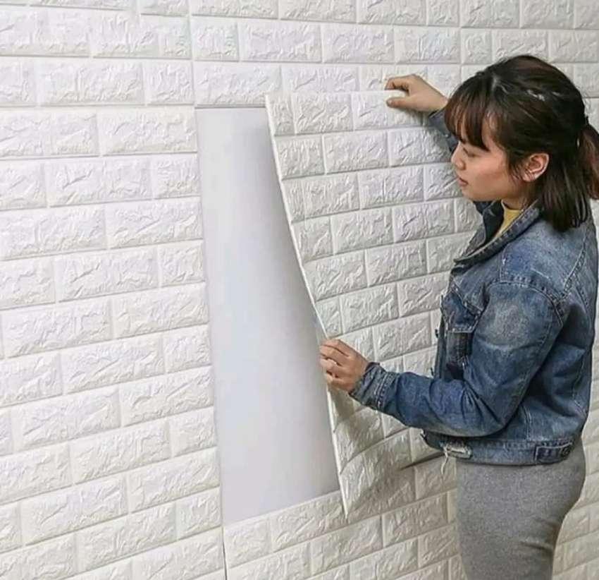 Wall stiker motif bata putih 20rb/lmbr sdh ada lem