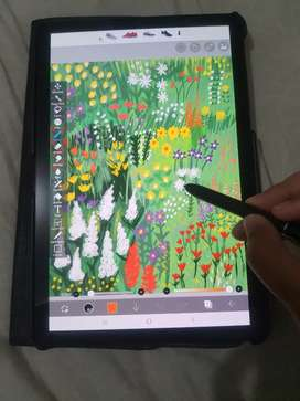 Tablet Samsung Galaxy Tab S4 MULUS, LENGKAP, bonus case, MASIH GARANSI