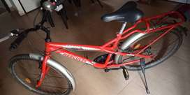 Hercules turbodrive red bicycle,4 years old.