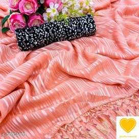 *Soft chiffon saree with sequence blouse piece*cod available*