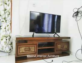 Bufet rak tv material kayu jati.