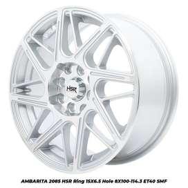 Velg Mobil Racing AMBARITA 2085 HSR R15X65 H8X100-114,3 ET40 SMF