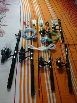 Different sizes of Fishing raad setes available
