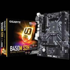 Gigabyte B450M S2H (AM4, AMD B450, DDR4, USB3.1, SATA3)