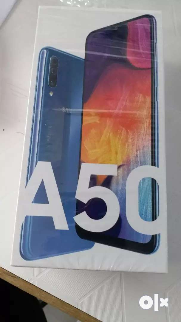 Samsung A50 6/64 blue new seal pack with bill one year warrenty 0