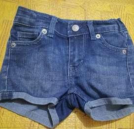 Pl denim hotpant/celana anak