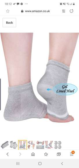 Silicon linning heel socks for cracked and rough heels.