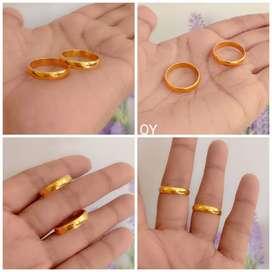 Cincin couple bahan kuning