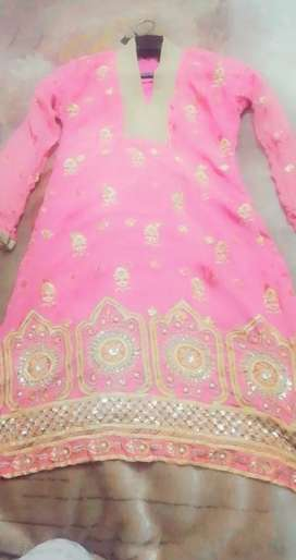 Embroidery shirt with dupatta