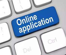 Online data entry.