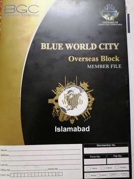 Blue World City overseas 10 marla open file old rate