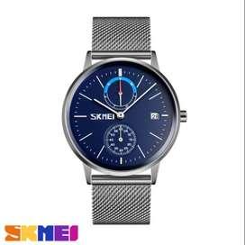 Jam tangan pria analog ada hari tanggal analog skmei original ab9182