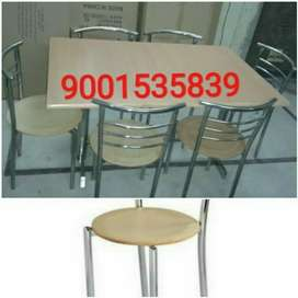 Neww ss six seater restaurant furniture table with six chair
