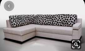 Flower print L shape sofa with 5 years of warranty