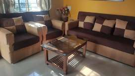 Sofa set along with center table for sale