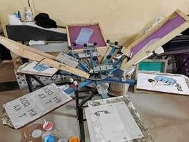 Manual Screen Printing Machine 6 colour 6 Station