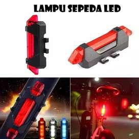 Lampu belakang / depan sepeda USB Charger LED waterproof