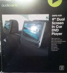 Audiosonic dual screen DVD player USB and memory card player