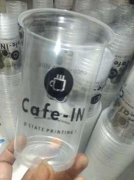 Sablon gelas cup plastik terpercaya hasil memuaskan