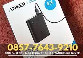 《BARU & SEGEL》Powerbank ANKER Powercore 10400 mAh 2 Port Hitam - A1214
