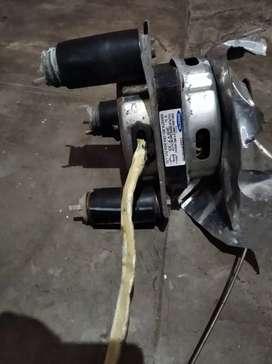 Washing machine dryer motor in running condition.