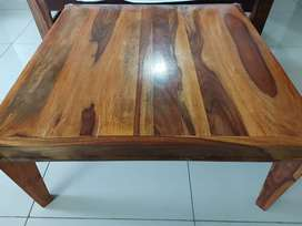 Shisham wood very strong square center table