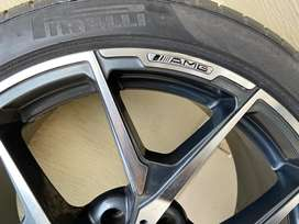 AMG Sports RIMS with cups & PirelliTyres