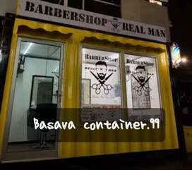 Container usaha- box container- container barbershop- container