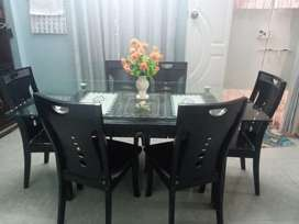 Dyning Table With 6 Wodden Chair