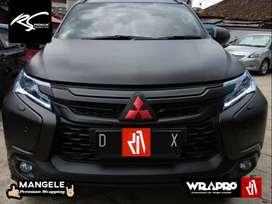 Stiker Mobil Pajero Fortuner Premium Wrapping Sticker Hitam Doff Mewah