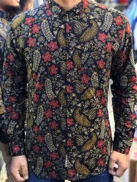 Baju batik pria bahan katun premium m,l,xl