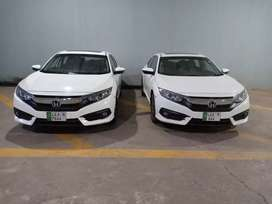 Honda civic available for rent with driver