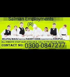 We provide  maid cook dirver Nanny  chef