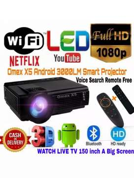3000LM YOUTUBE ANDROID VERSION WIFI PROJECTOR SCHOOL CLASS HOTEL HOME