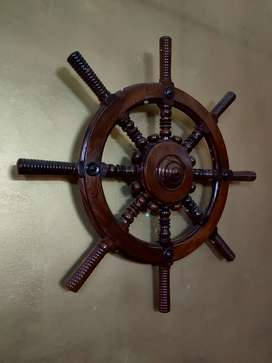 Antique real ship steering wheel (Rosewood)