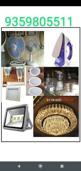 Repair fan,lights,irons,mixers,toaster