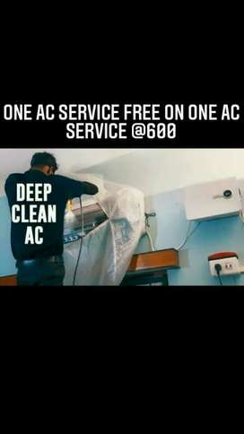 One AC service free with one jet pump service @600