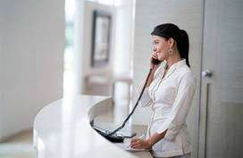 Receptionist vacancy in Reliance Jio Back office