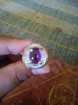 Cincin kecubung ungu