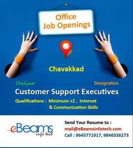 Required ladies staff for Customer service and software management
