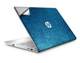 Laptop back sheet pena filx and v card and other all thes type prnting
