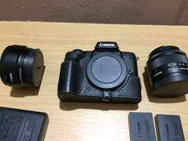 Canon EOS M50 24.1 MP Mirrorless Digital SLR Camera with Accessories
