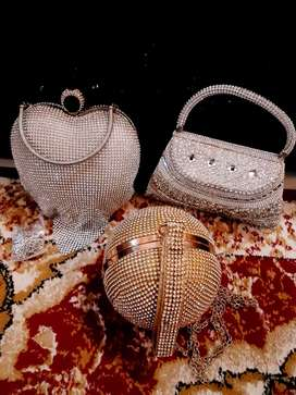 Bridal clutches bundle of three