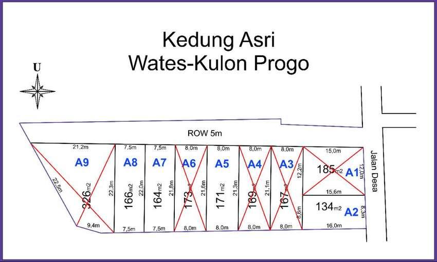 YIA Wates Jogja, Tanah Murah Jalan 5 Meter, Cicilan 12 X Non Bunga