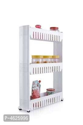 Prexo Multi Layer Space Saving Storage Organizer Rack Shelf with Wheel