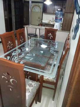 Luxury Style Dining Table Complete Set 6 Seaters Available Here