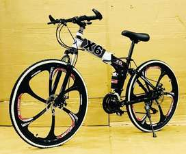 Foldable bicycle with 21 shimano gears