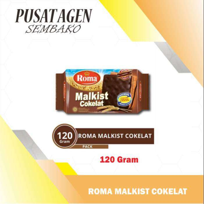 ROMA MALKIST COKELAT 120 G MALKIS COKLAT 120G CHOCOLATE 120GR GR 0