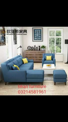 Elegant corner set with one Seater and stool