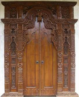 Pintu ukir gebyok full kayu jati tpk